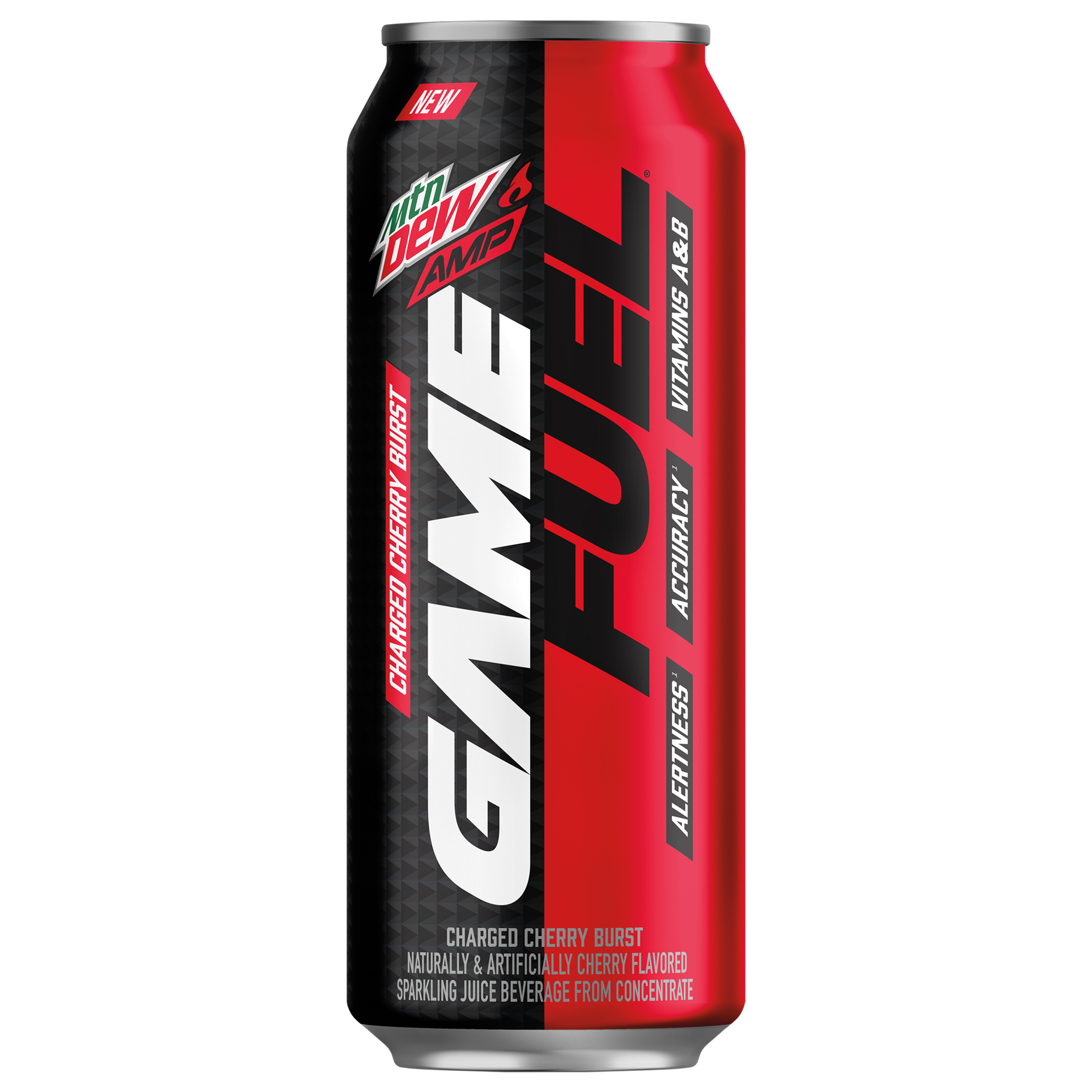 MTN DEW AMP GAME FUEL, 4 Flavor Variety Pack, 16 oz Cans, 12