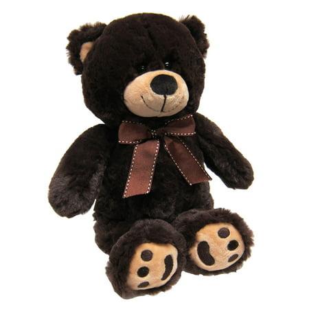 Joon Mini Teddy Bear, Dark Brown, 13 Inches