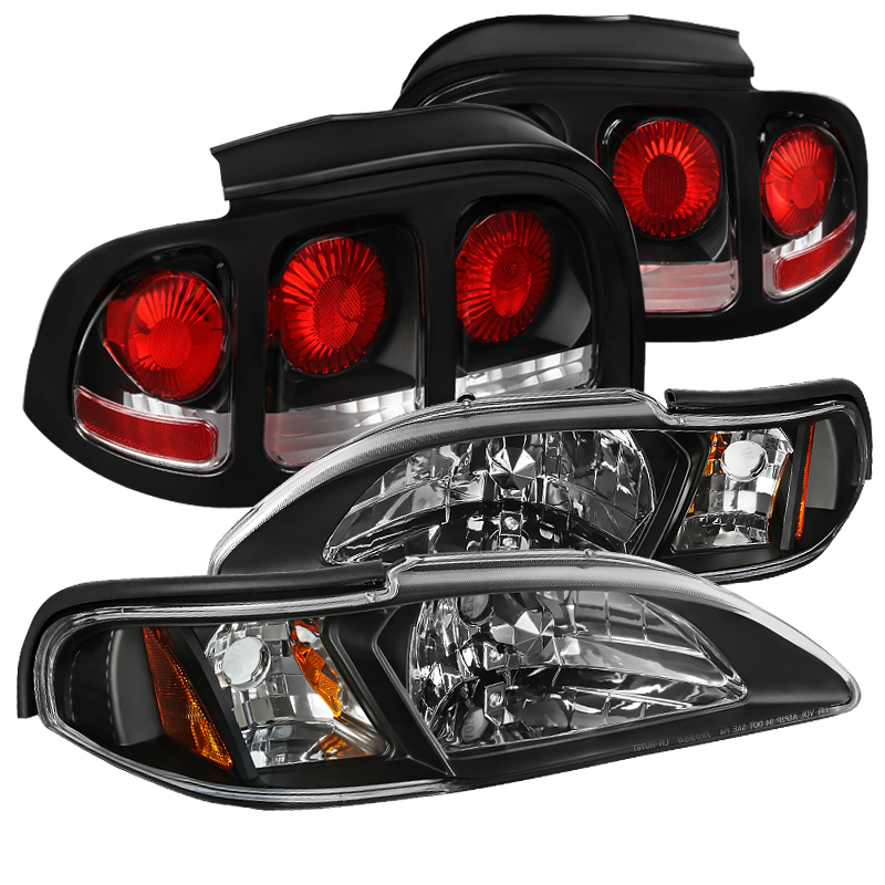 Side Marker Parking Turn Signal Corner Lights Pair Set for 94-98 Ford Mustang