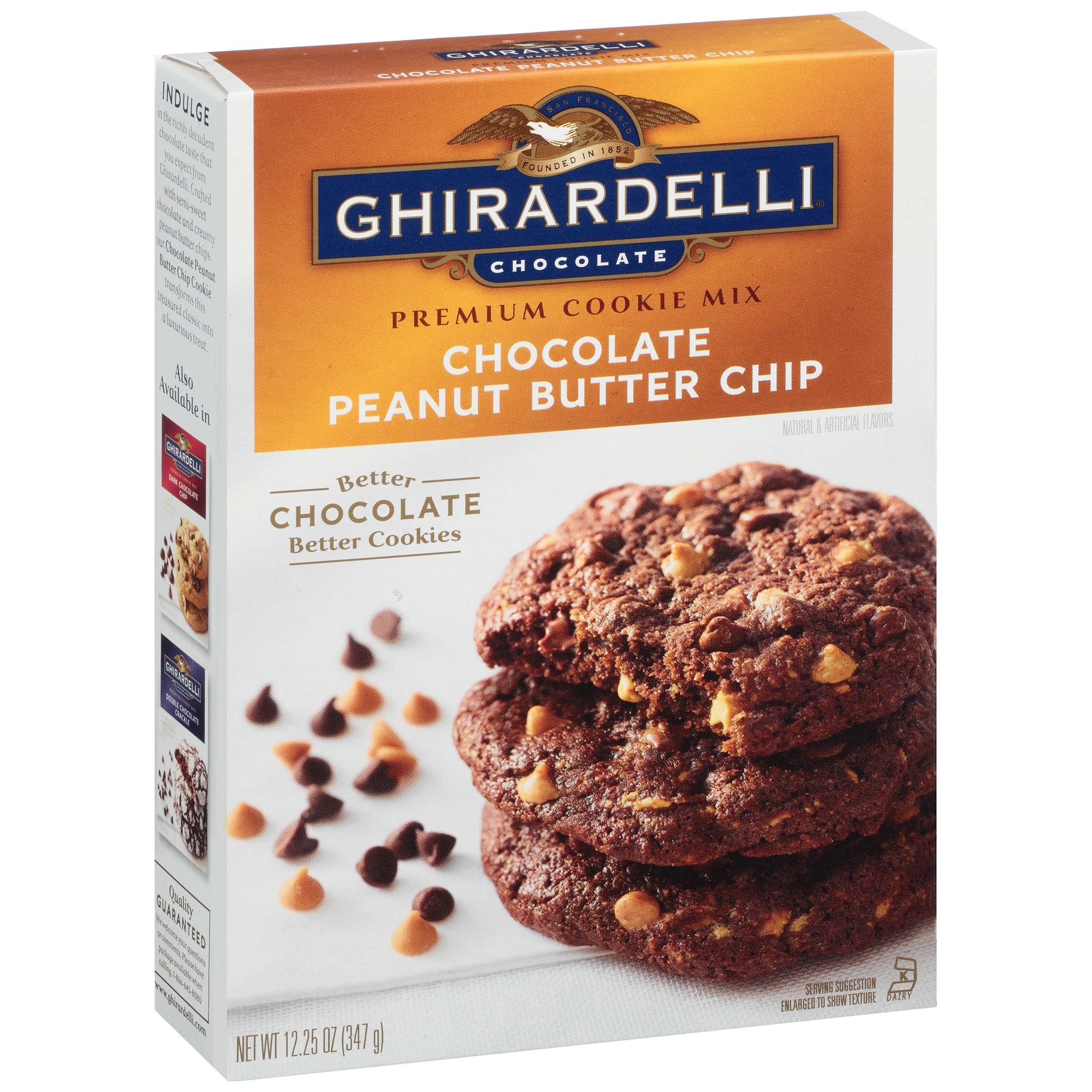 Ghirardelli Chocolate Peanut Butter Chip Cookie Mix 12.25 oz. Box ...