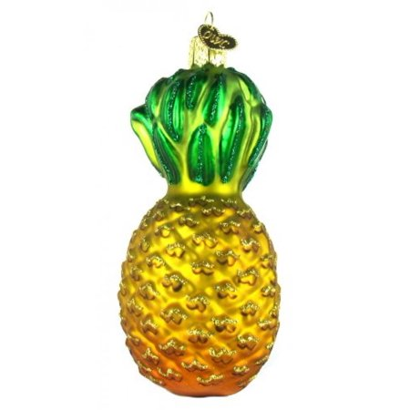 Old World Christmas Pineapple Glass Blown Ornament