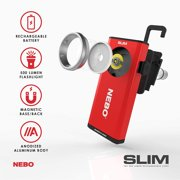NEBO Rechargeable Flashlights High Lumens: 500-Lumen LED Flash Light Equipped with Dimming and Power Memory Recall;