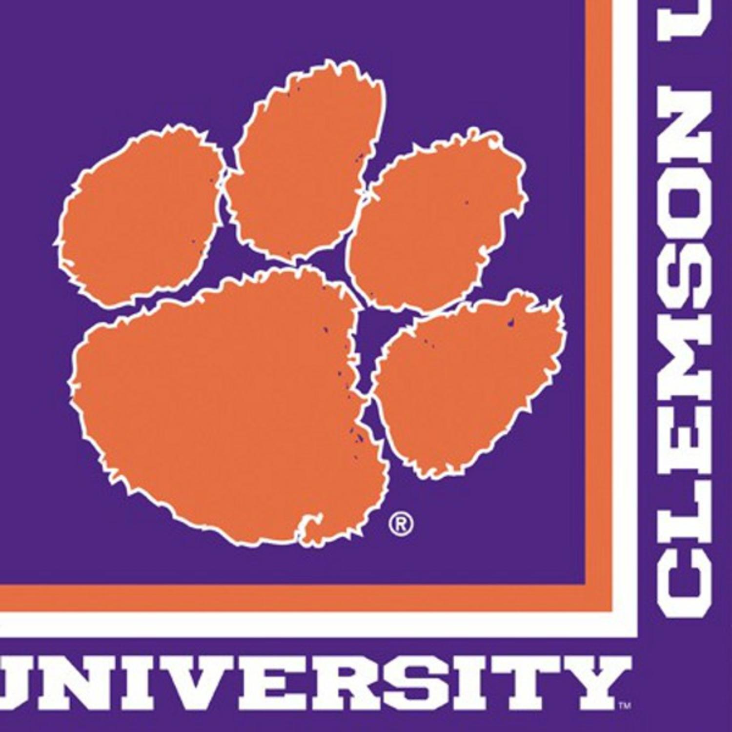 Club Pack of 240 NCAA Clemson Tigers 2-Ply Tailgating Party Lunch Napkins