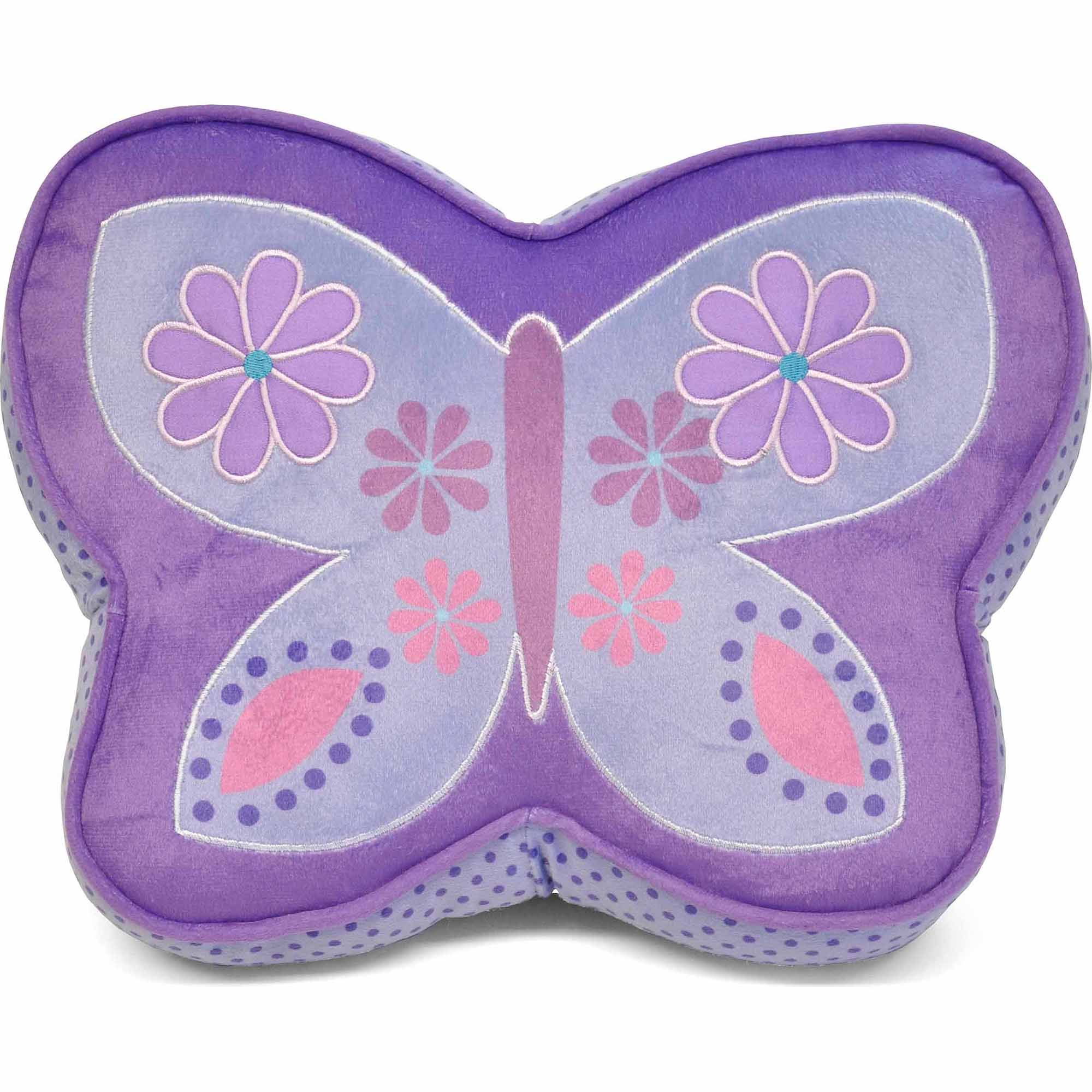 Mainstays Kids Butterfly Decorative Pillow Purple