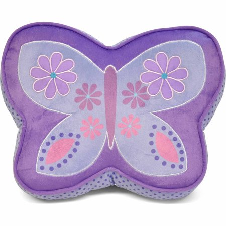 Purple And Pink Decorative Pillows : Mainstays Kids Butterfly Decorative Pillow, Purple - Walmart.com