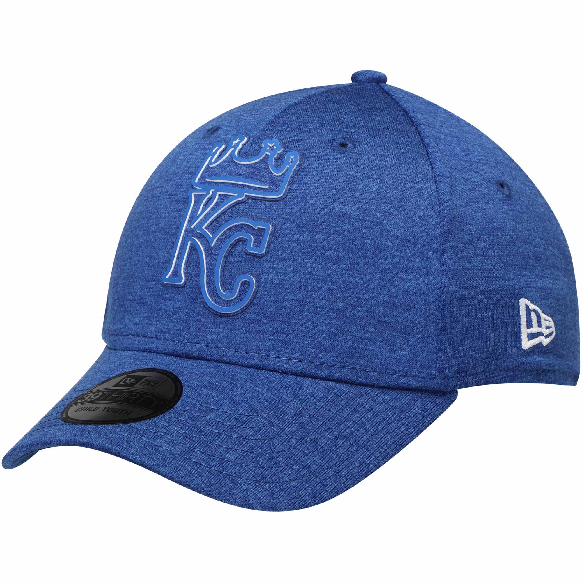 size 40 92a28 af863 Kansas City Royals New Era Youth 2018 Clubhouse Collection Classic 39THIRTY  Flex Hat - Royal - Child Yth - Walmart.com
