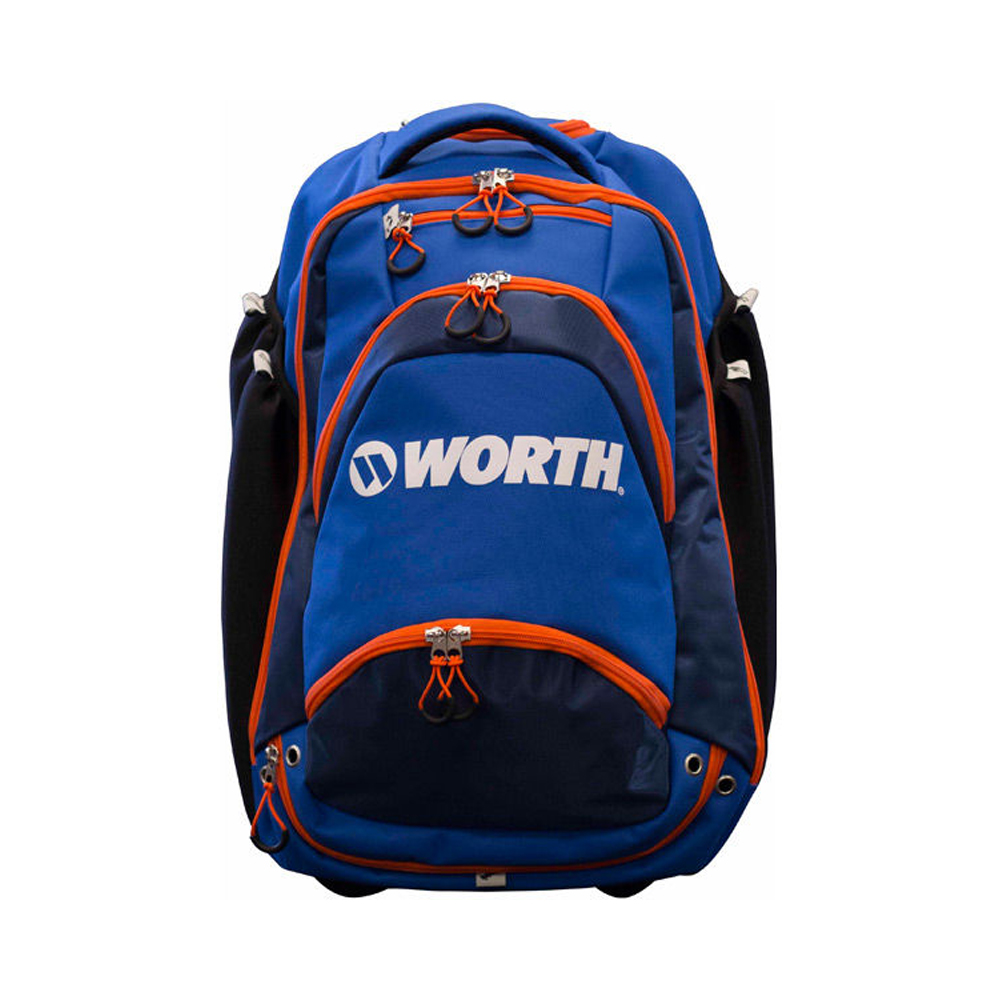 Worth Sports XL WOXLBP-17-BLO Backpack Holds 4 bats, fence hooks, Blue & Orange