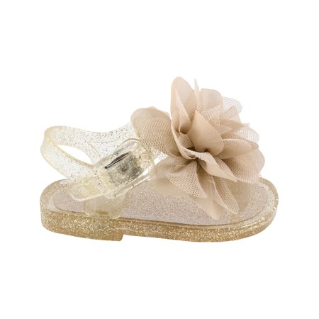 Wee Kids Baby-Girls Sandals Jelly Shoes Infant Shoes Baby Shoes Girls Summer Sandals Champagne Gold Sz 12