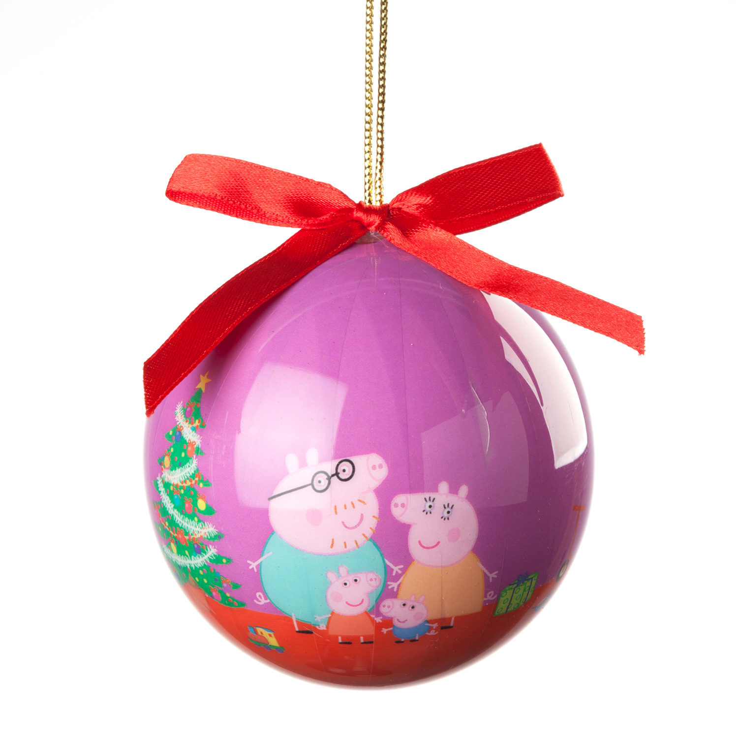 Personalized Peppa Pig Family Decoupage Christmas Ornament