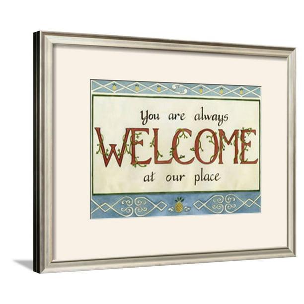 Welcome Framed Art Print Wall Art By Tara Friel 21 5x17 5 Walmart Com Walmart Com
