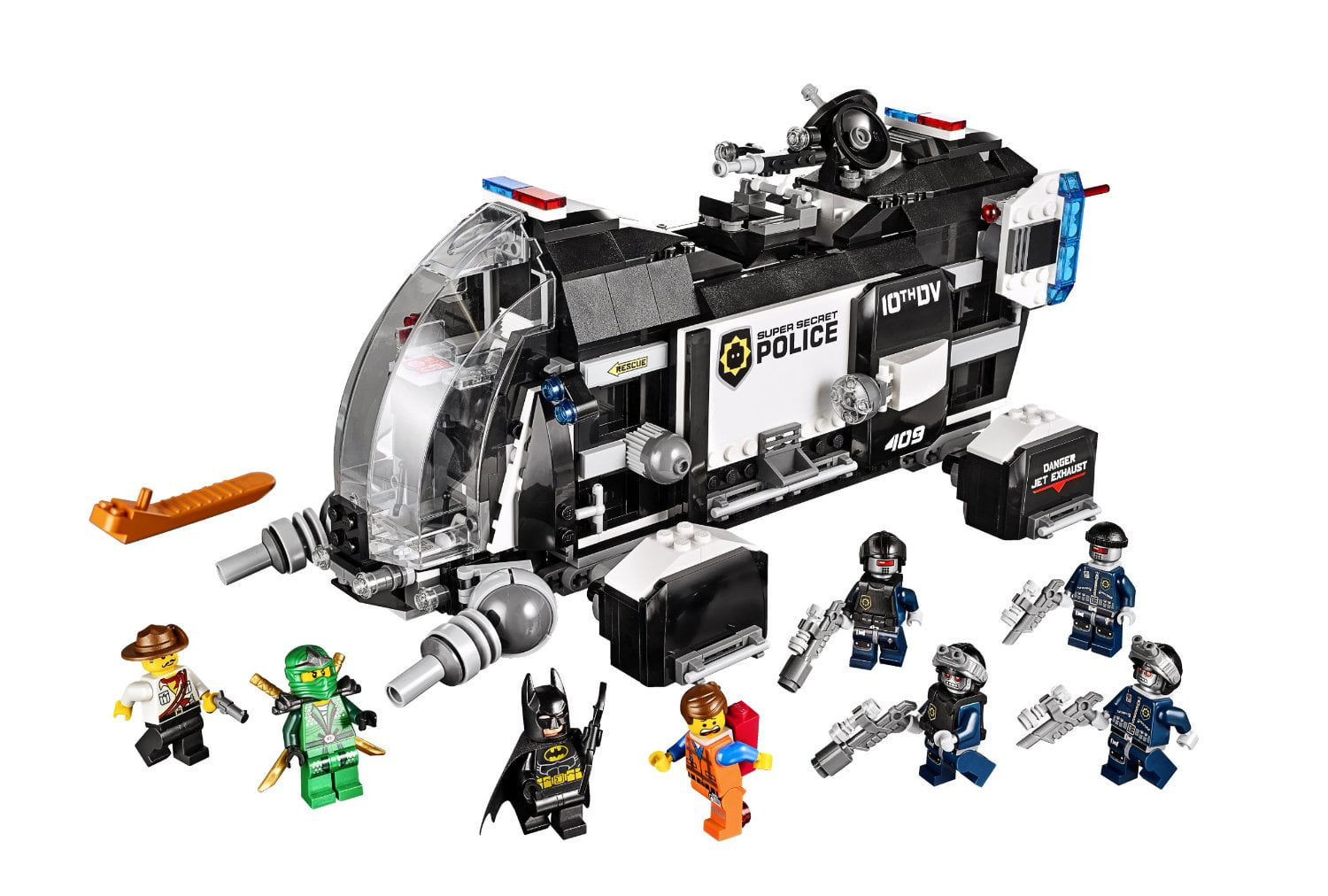 THE Lego MOVIE Super Secret Police Dropship w  8 Minifigures | 70815 by Lego