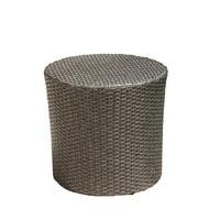 Wheaton Wicker Barrel Side Table