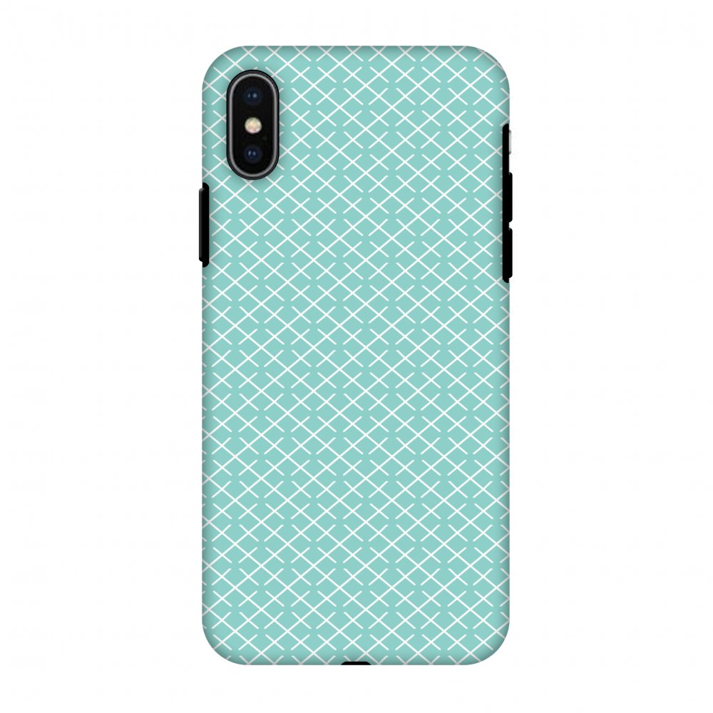 iPhone X Case, Premium Heavy Duty Dual Layer Handcrafted Designer Case ShockProof Protective Cover with Screen Cleaning Kit for iPhone X - Checkered In Pastel, Flexible TPU, Hard Shell