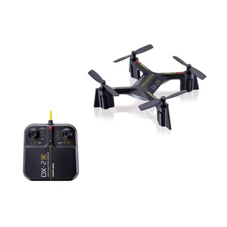 "Sharper Image DX-2 - 5"" Rechargeable Stunt Drone - 2.4 GHz - Black"