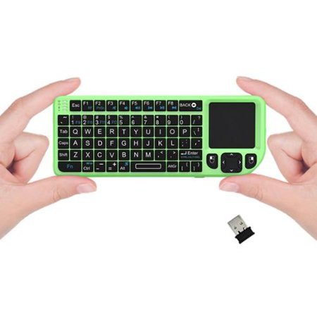 Portable Green Laser Pointer - FAVI FE01 2.4GHz Wireless Mini Keyboard with Laser Pointer, Green (FE01-GR)