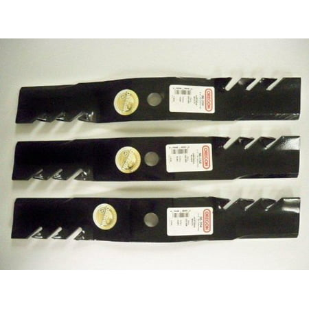Set of 3, Made In USA Gator 3-In-1 Mulching Blades For John Deere M127500, M127673, or M145476 ()