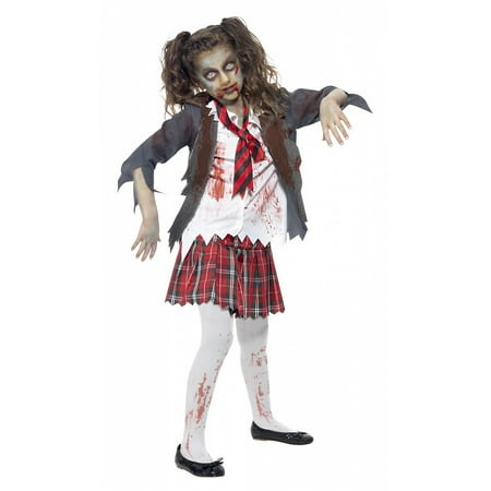 Zombie Teen Costume (Zombie School Girl Teen/Junior Costume -)