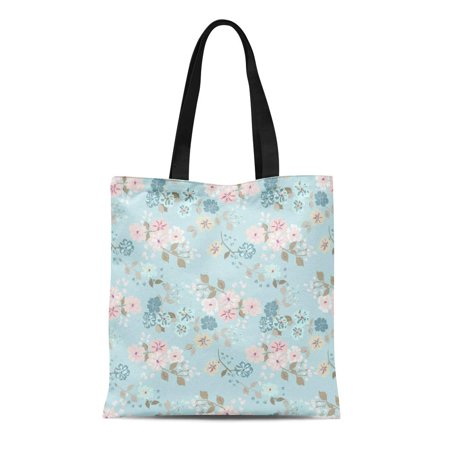 HATIART Canvas Tote Bag Simple Cute Pattern in Small Scale Flowers Shabby Chic Durable Reusable Shopping Shoulder Grocery Bag - image 1 de 1