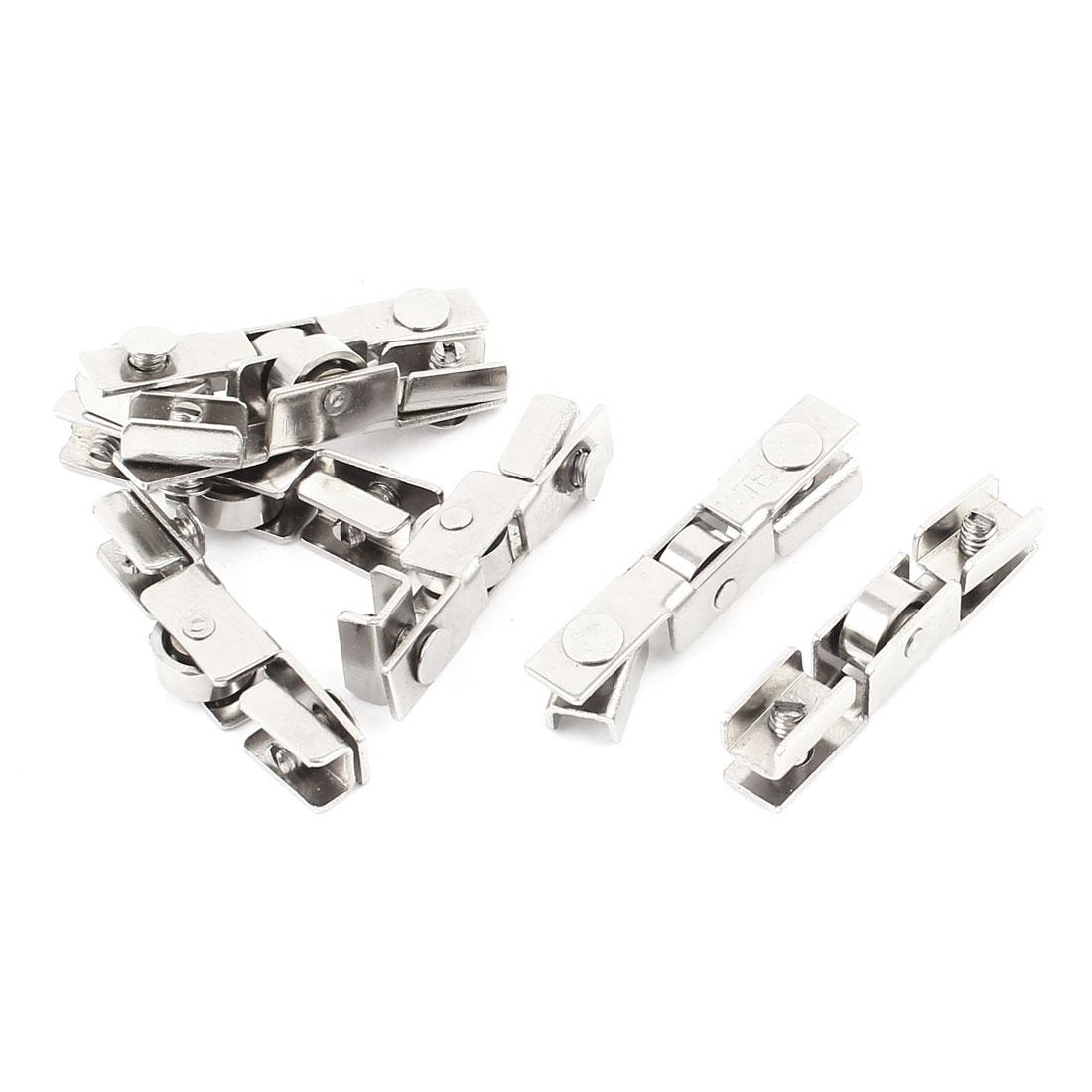 Uxcell Wardrobe Closet Slide Door 10mm Dia Metal Wheel Roller Replacement 7pcs