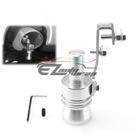 Universal Silver Fake Turbo Sound Exhaust Whistle Blow off Valve Simulator Whistler XL Blow Off Valve Adapter