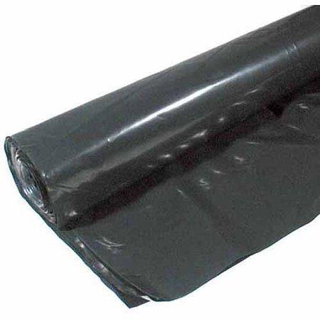 Poly-america 4 mL Tyco Polyethylene Black Plastic Sheeting, 20' x 50'