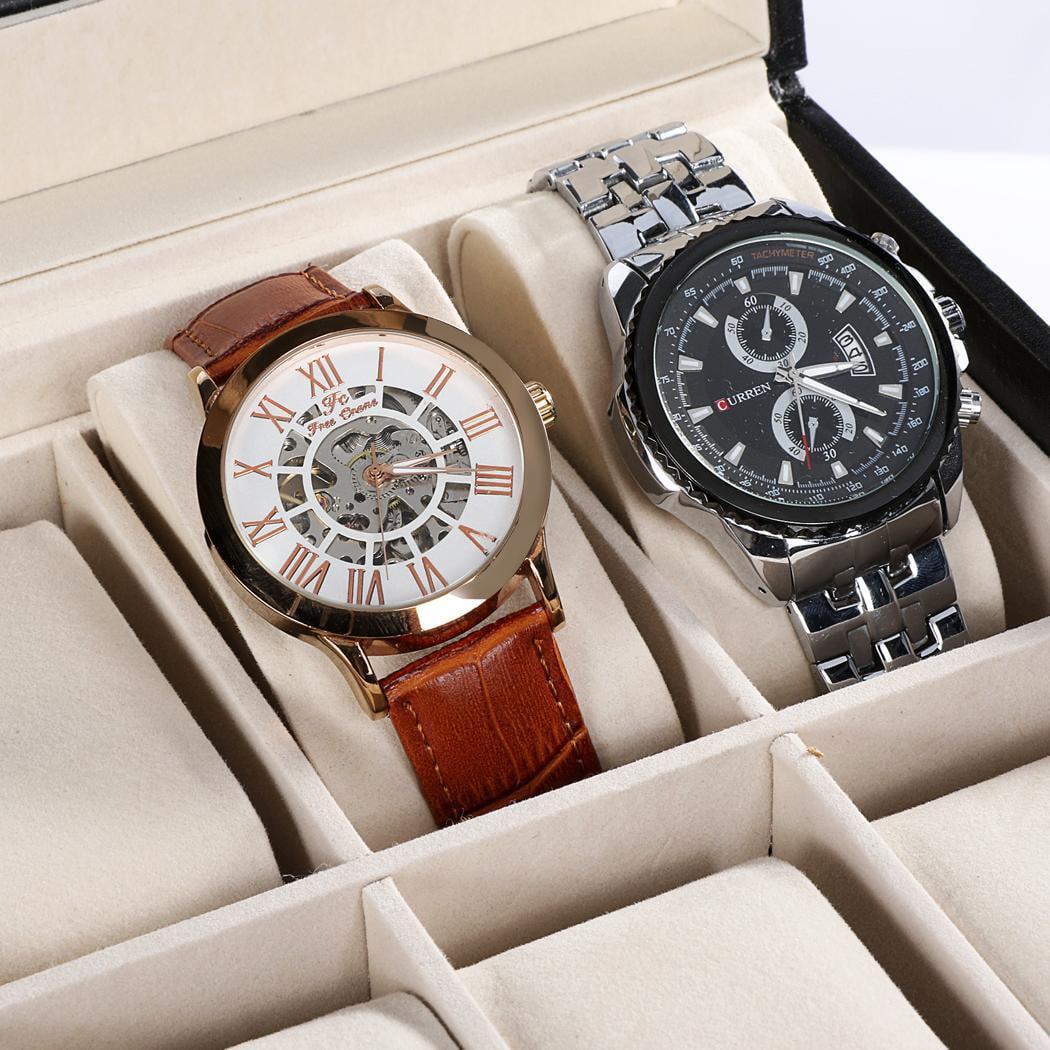 Cleanerlove Watch Holder Glass Window 2 Tiered 20 Watch Holder