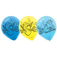 "Finding Dory 12"" Latex Balloons (6 Count) - Party Supplies"
