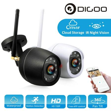 DIGOO Indoor Outdoor 720P Wireless WiFi Network IP Camera ,Baby Home Security Monitor, Waterproof CCTV, Cloud Storage Pan Tilt &Night Vision Motion Detection &APP - Zoom Wireless Network Camera