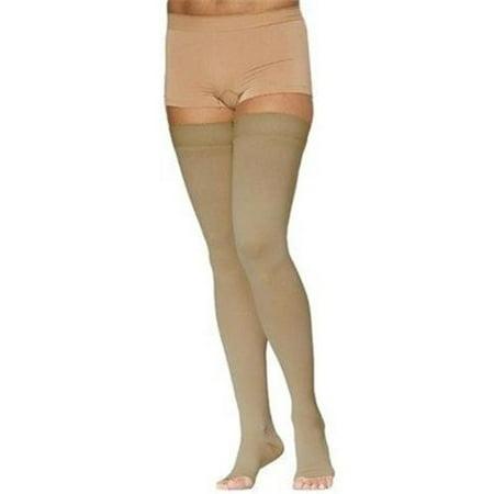 e2560205ba Sigvaris - 232 Cotton Open Toe Thigh Highs w/Grip Top - 20-30 mmHg Short  SIG232COS-P - Walmart.com