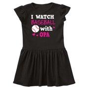 I Watch Baseball with My Opa Infant Dress
