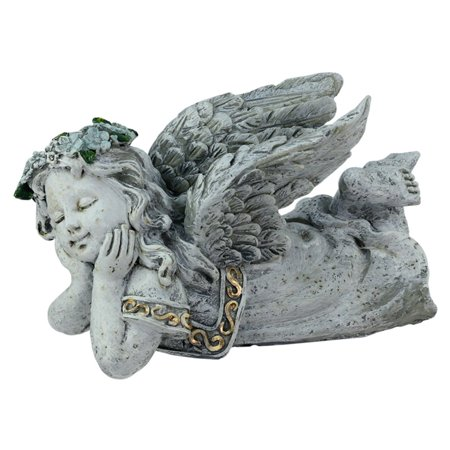 Sleeping Cherub Garden (Northlight Heavenly Gardens Daydreaming Cherub Angel Outdoor Garden Statue )