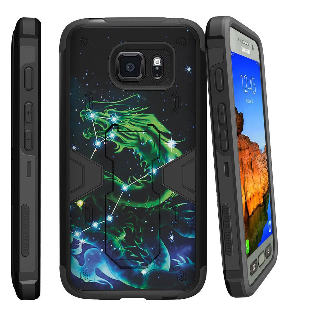 Samsung Galaxy S7 Active Case | S7 Active Belt Clip Case [Max Defense] Dual Layer Case with Built In Kickstand + Belt Clip - Dragon Stars