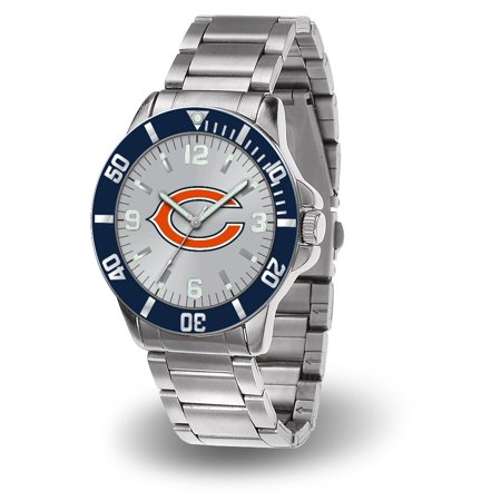 Chicago Bears Fan Series Watch - Chicago Bears Sparo Key Bracelet Quartz Watch - Silver - No Size