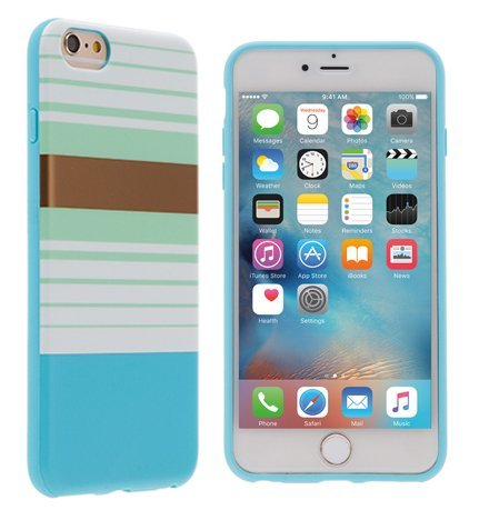 Agent18 iPhone 6 Plus iPhone 6S Plus Case - Blue Preppy Stripes - Flexshield - image 1 of 1