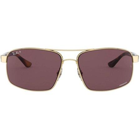 Ray-Ban Men's Rb3604ch Chromance Mirrored Square Sunglasses
