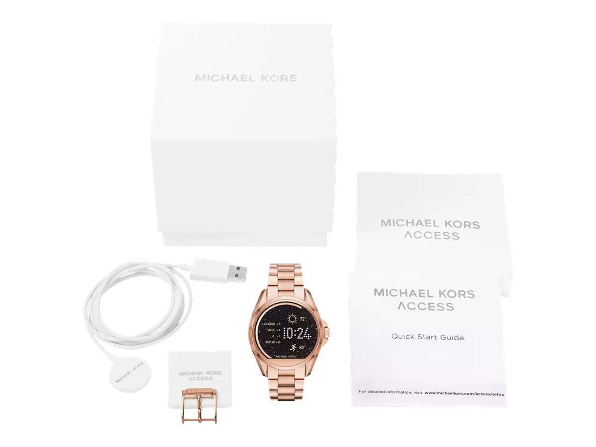Michael Kors - Michael Kors Women s Access Touch Screen Rose Gold Bradshaw  Smartwatch MKT5004 - Walmart.com 48ddd2bb86