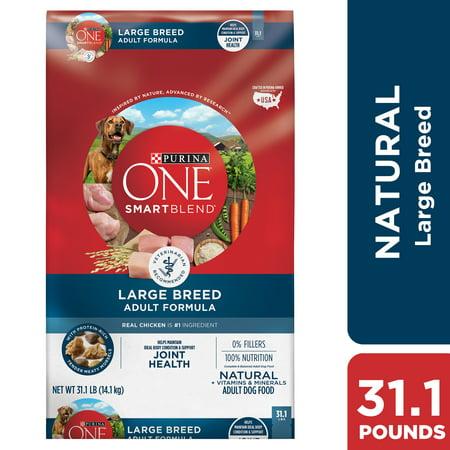 Purina ONE Natural Large Breed Dry Dog Food, SmartBlend Large Breed Adult Formula - 31.1 lb. (Best Inexpensive Dog Food For Large Breeds)