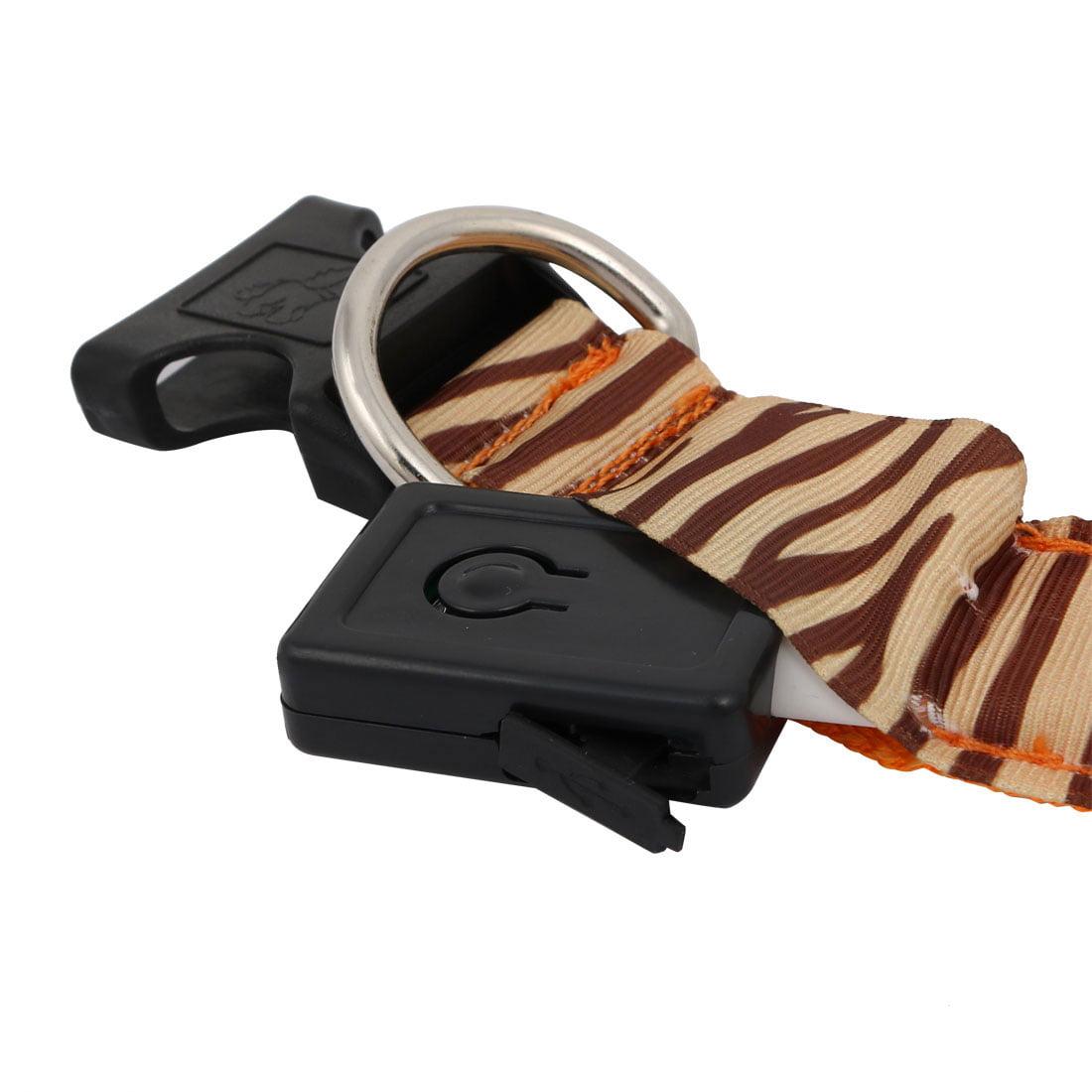Unique Bargains Orange LED Light Flashing Zebra-Stripe XL Size Dog Neck Collar USB Rechargeable - image 3 of 7