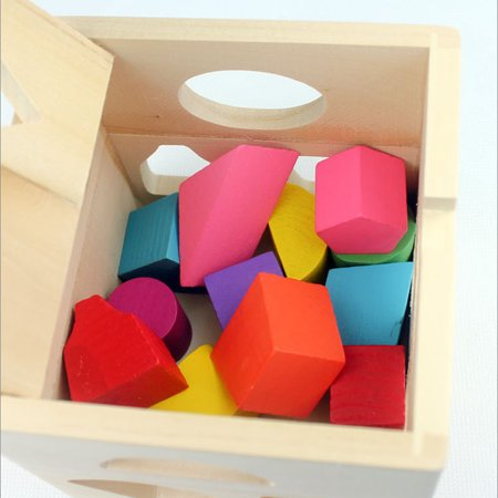 Homeholiday13 Holes Children Educational Box Wooden Building Blocks Toddler Geometric Pairing Toys Learning Tool - image 4 de 7