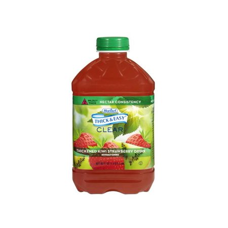 Red Halloween Alcoholic Drinks (Thick & Easy, Kiwi Strawberry Drink,Nectar Consistency, 46 Ounce - 6)