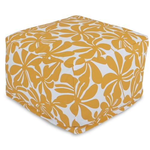 Majestic Home Goods Plantation Ottoman Outdoor Indoor Yellow Plantation Large Ottoman