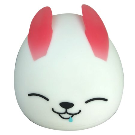 Night Light For Kids Soft Rabbit Silicone Baby Nursery Lamp Tap Control 7 Colors Breathing Light Nightlight For Baby Toddlers Bedroom Decorations USB Rechargeable Red](Oscar Night Decorations)