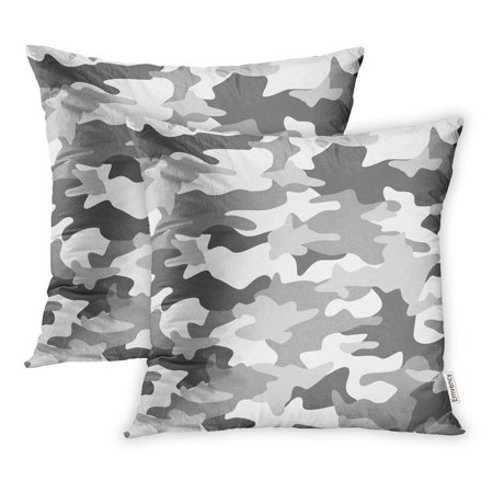 YWOTA Colorful Snow Camouflage Pattern Abstract Light Green Camo Grey Pillow Cases Cushion Cover 18x18 inch