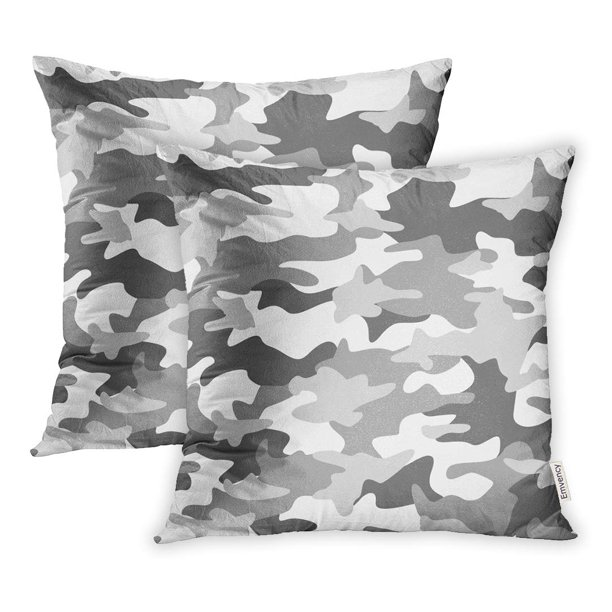 Ywota Colorful Snow Camouflage Pattern Abstract Light Green Camo Grey Pillow Cases Cushion Cover 18x18 Inch Walmart Com Walmart Com