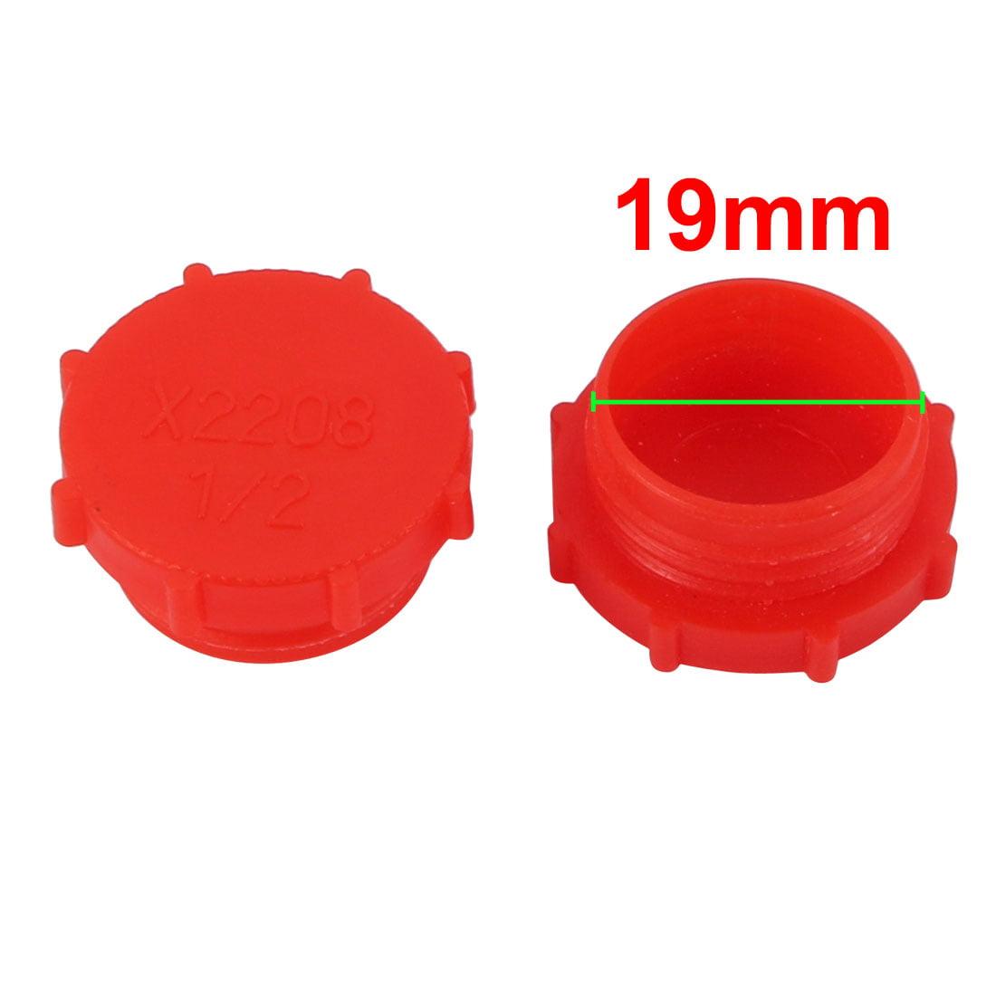 100pcs G1/2 PE External Threaded Tube Insert Cap Screw-in Cover Red - image 1 of 2