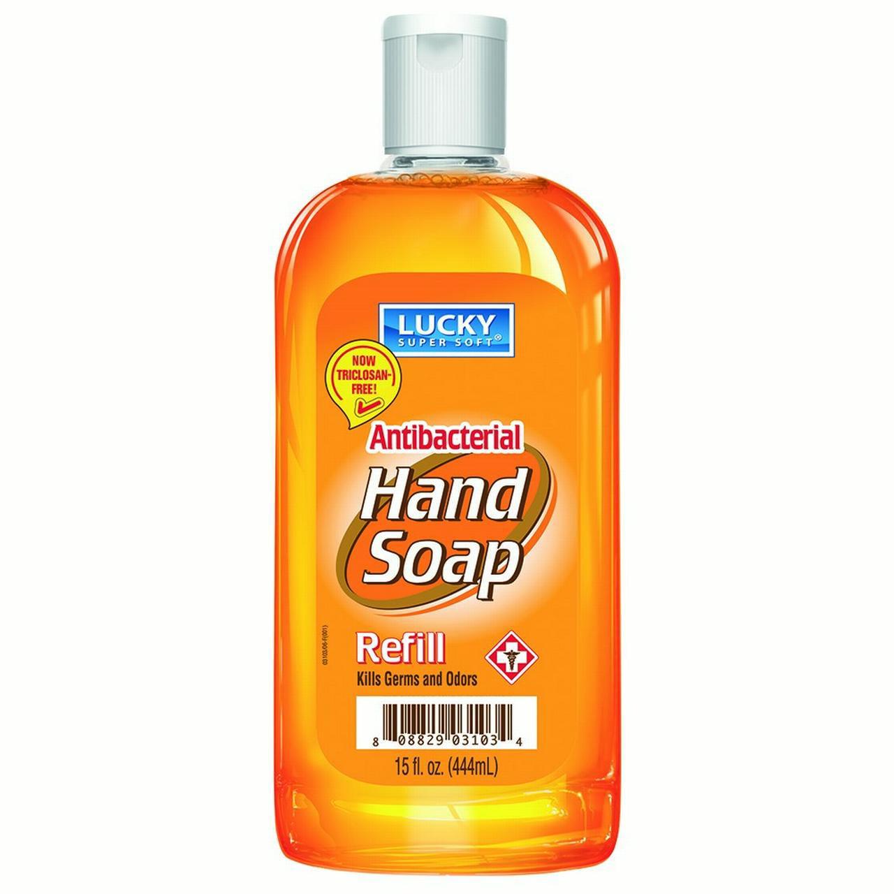 Lucky Super Soft Antibacterial Hand Soap Refill, 15 Oz