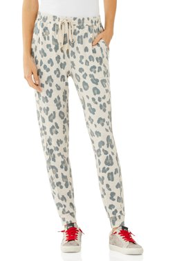 Scoop Women's Animal Printed Joggers with Front Seaming