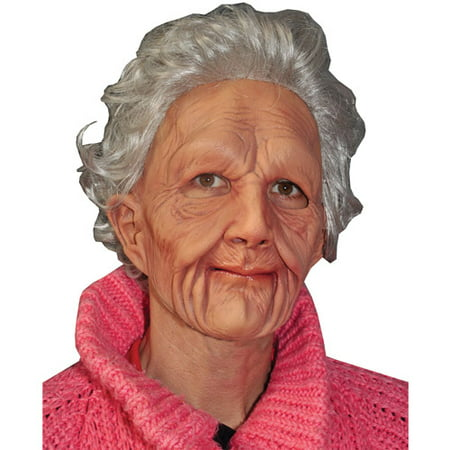 Supersoft Old Woman Halloween Adult Latex Mask (Non Latex Halloween Masks)