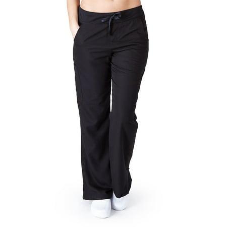 Black Medical Scrub - UltraSoft Premium Medical Scrub Pants for Women - Drawstring Yoga Pant inspired - JUNIOR FIT Black / Small
