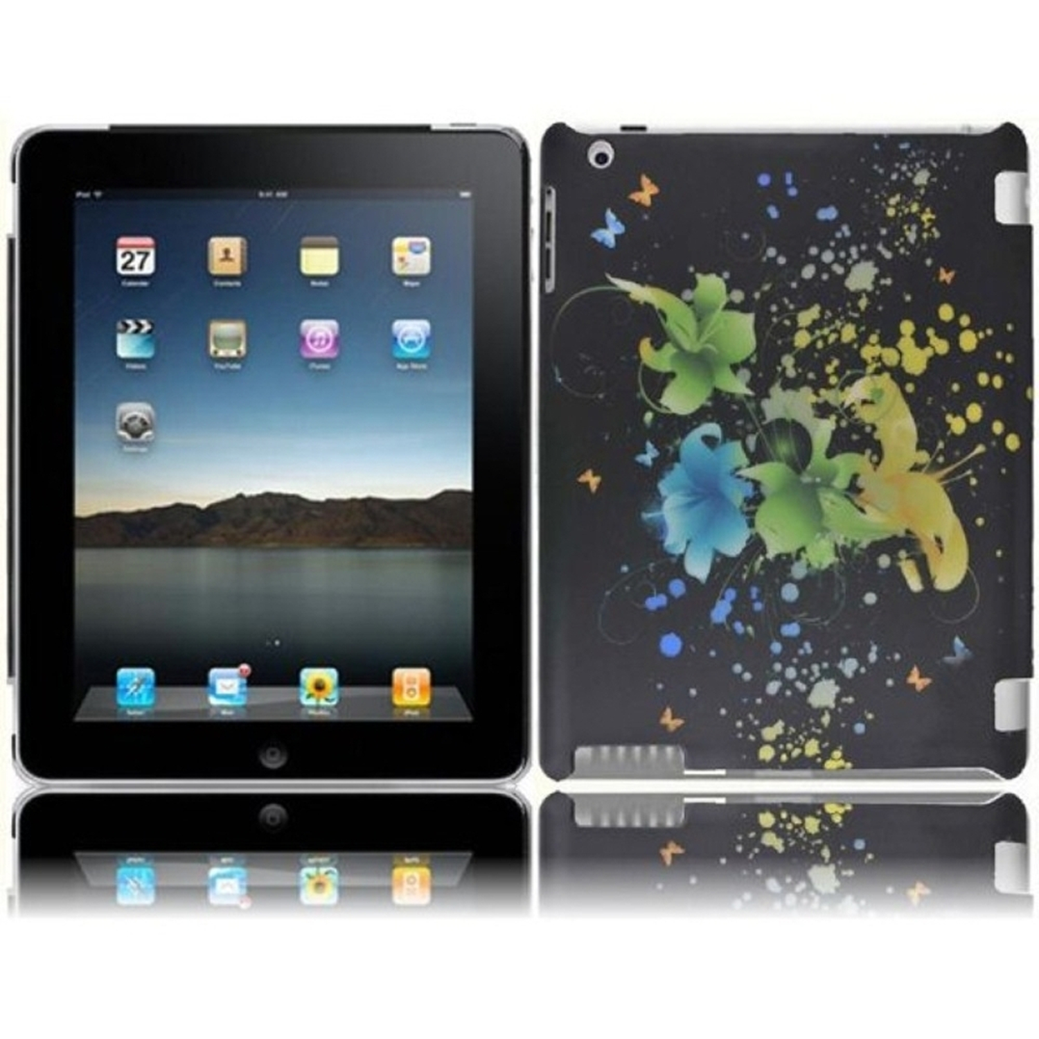 Insten For Ipad 3 Ipad HD Rubberized Hard Design Case Magic Flowers